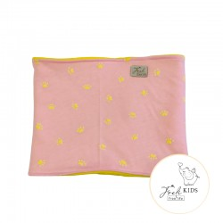 freli nákrčník žluto růžový
