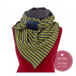 freli pánský šátek šedo žlutý